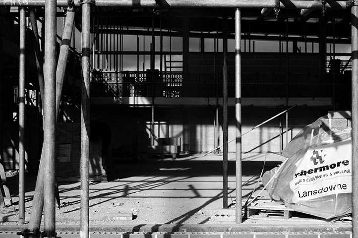 building site bw