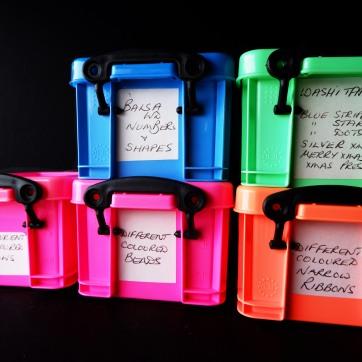 mini art boxes